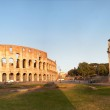 Panorama of the Colosseum and Arch of Constantine — Stock Photo