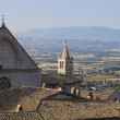 Assisi roofs and chimneys, umbria countryside view — Stock Photo