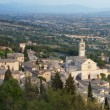 Assisi panorama Cattedrale di S. Rufino and St. Chiara — Stock Photo