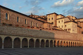 San Francesco square at Assisi — Stok fotoğraf