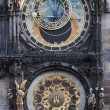 Historical, astronomical clock in the Old Town square in Prague, — Stock Photo #26202093