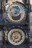 Historical, astronomical clock in the Old Town square in Prague, — Stock Photo