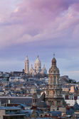 The Basilica of the Sacred Heart - Sacre-Coeur, Paris at sunrise — Stock Photo