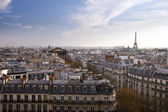 Paris panorama with Eiffel tower, France, Europe — Stock Photo