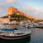 Постер, плакат: Bonifacio marina at sunrise Corsica France