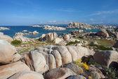 Lavezzi eilanden met blauwe hemel, corsica, Frankrijk — Stockfoto