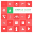 Christmas icons set — Image vectorielle