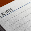 Lined pad paper with Notes written at the top — Stock Photo #13687209