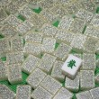 Wealth - Mahjong tiles top down - Stock Photo