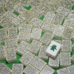 Wealth - Mahjong tiles top down — Stock Photo #13687288