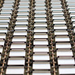 Repeating metal plates — Stock Photo