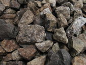 Stones along a railway rack — Stock Photo
