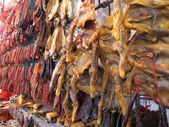 Range of waxed meat — Stock Photo