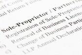 Sole proprietor — Stock Photo