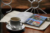 Coffee with light reading — Stock Photo