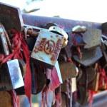 Locks on railing — Stock Photo