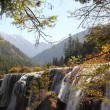 side view of jiuzhaigou waterfall — Stock Photo