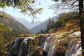 Side view of Jiuzhaigou waterfall — 图库照片