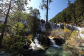 Front view of Jiuzhaigou waterfall — Stock Photo