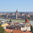 A view of the Parliament from the Fishermens Bastion located in the Buda part of the city of Budapest — Stock Photo #13766678