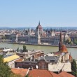 Stock Photo: View of Parliament from Fishermens Bastion located in Budpart of city of Budapest