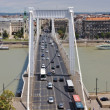 View of Elizabeth bridge in Budapest Hungary — Stock Photo