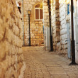 Stock Photo: Old and narrow Mediterranestreet