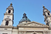 View of St.Stepen's Bastilica in the Pest part of the city of Budapest — Stock Photo