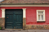Retro door and window — Stock Photo