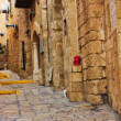 View of an Old Jaffa street, Israel - Stock Photo