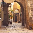 Stock Photo: View of Old Jaffstreet, Israel