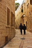 Alley in Jerusalem old city, Israel — Stock Photo