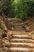 Ancient stairs made of stone — Stock Photo
