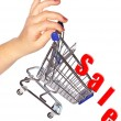 Shopping discount concept — Stock Photo