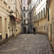 Old alley in Vienna, Austria — Stock Photo