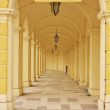 a hall way of a famous schonbrunn palace in vienna austria — Stock Photo
