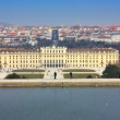 An aerial view of a famous Schonbrunn palace in Vienna Austria — Stock Photo