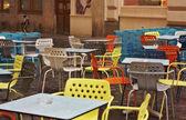 Viejo café antigua terraza — Foto de Stock