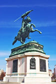 Statue of Archduke Charles at the Heroes square Vienna, Austria — Stock Photo