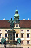 Statue of Emperor Francis II Hofburg Palace, Vienna Austria — Stock Photo