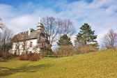 Old typical Austrian house at Baden, Austria. — Stock Photo