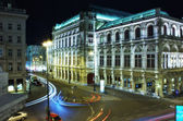 Vídeňská opera house v noci — Stock fotografie