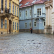 Stock Photo: Typical Europealley in old city of Bratislava, Slovakia