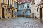 Typical European alley in the old city of Bratislava, Slovakia — Stock Photo