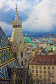 Aerial view of Vienna from Stephandom's north tower — Stock Photo