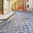 Narrow alley in the historic part of Budapest, Buda Hungary — Stock Photo