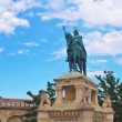 Fishermans bastion and the Statue of Saint Stephen in Buda part of the city of Budapest, Hungary — Stock Photo #34386687
