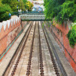 Stock Photo: Rails of famous funicular in Budapest