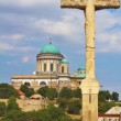 Stock Photo: View of Saint Thomas chapel and Esztergom Basilicfrom hill,Hungary