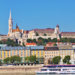 View of Buda part of the Budapest including the Fisherman's Bastion and St. Matthias church — Stock Photo